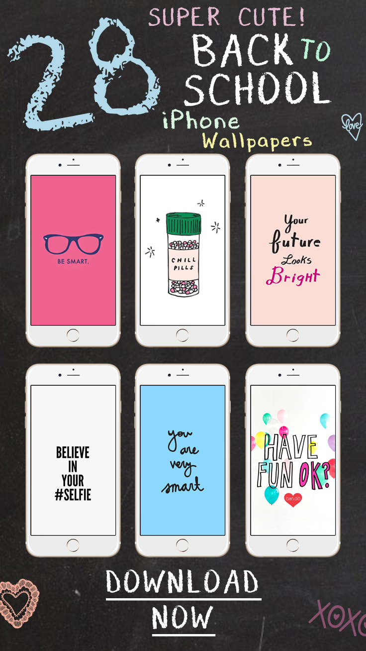 28 Super Cute Back to School Wallpapers for iPhone & Android ★ Download them at www.preppywallpapers.com