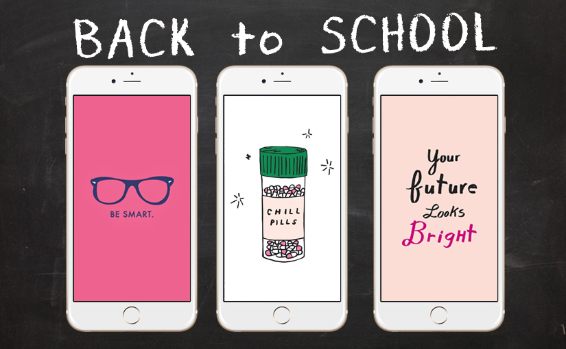 back to school with 28 super cute iphone wallpapers