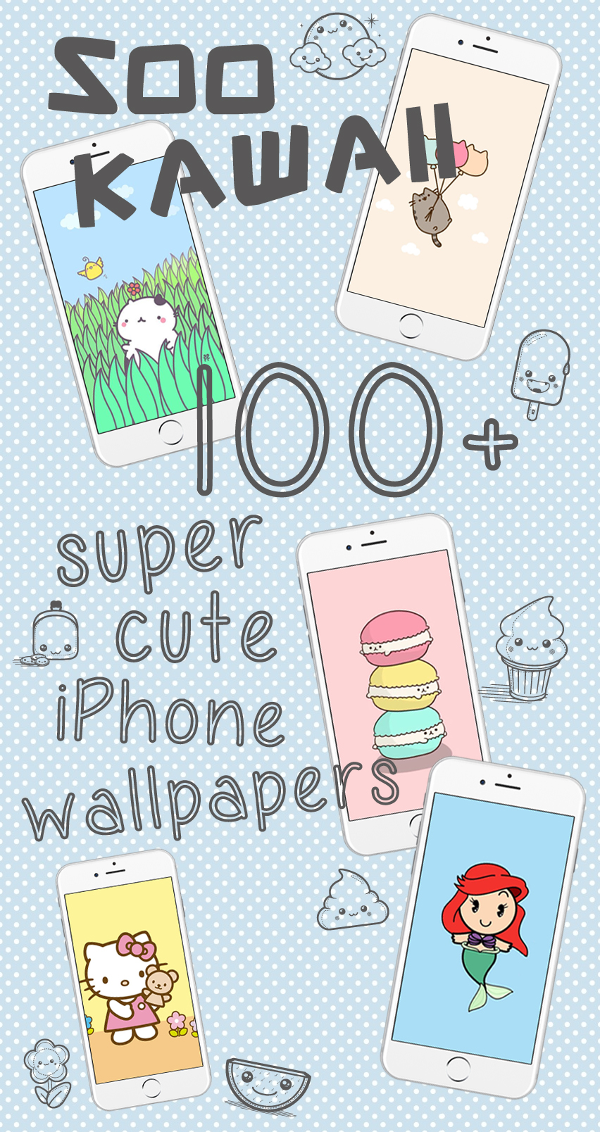 100+ Soo Kawaii Wallpapers for iPhone & Android ★ Check them out at www.preppywallpapers.com or @blossomcases