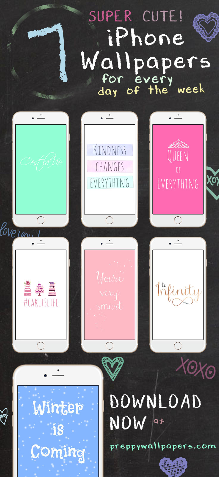 Download for free: Preppy Original ★ Super Cute iPhone Wallpaper Collection