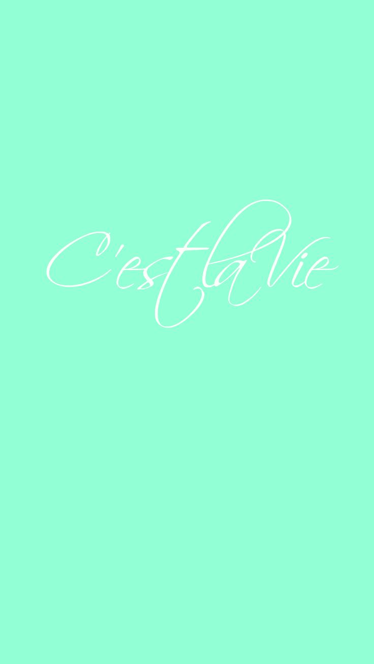 Preppy Original ★ C'est la Vie iPhone Wallpaper Quote