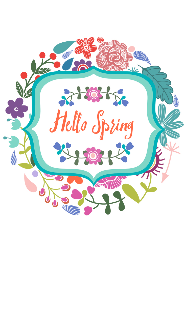 Hello Spring ★ Download more floral #Spring iPhone Wallpapers at preppywallpapers.com