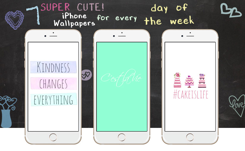 7 Super Cute iPhone Wallpapers for Every Day of the Week