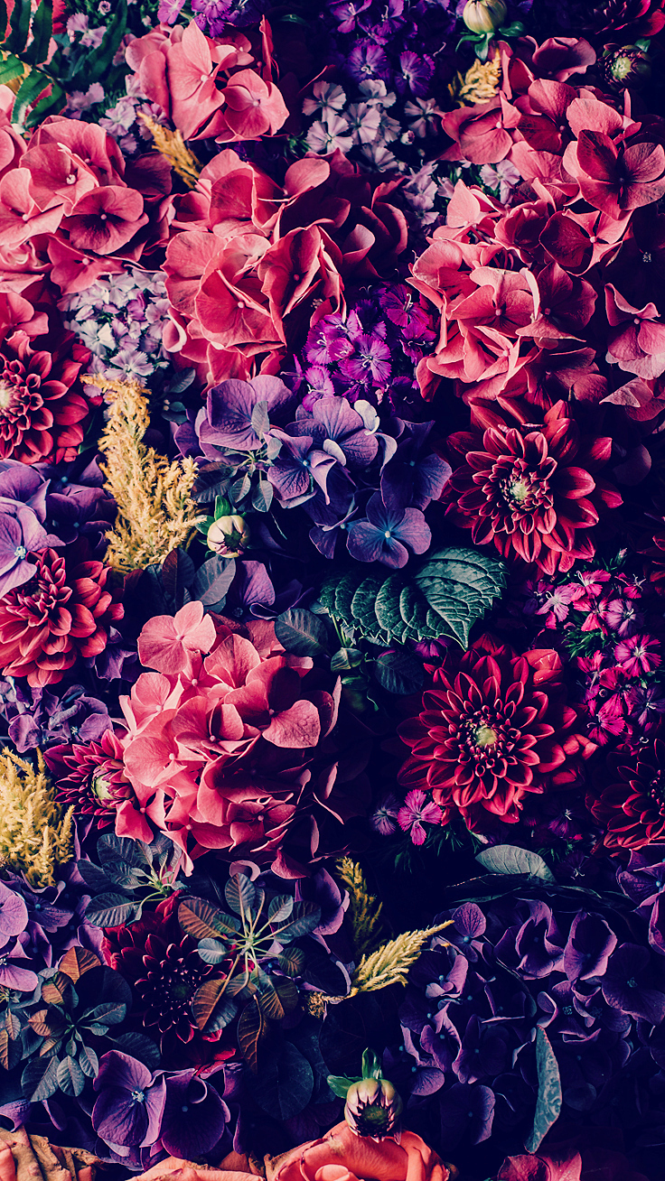 preppy original floral iphone wallpaper