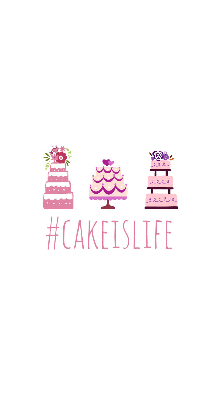 Preppy Original ☆ Cake is Life iPhone Wallpaper Quote