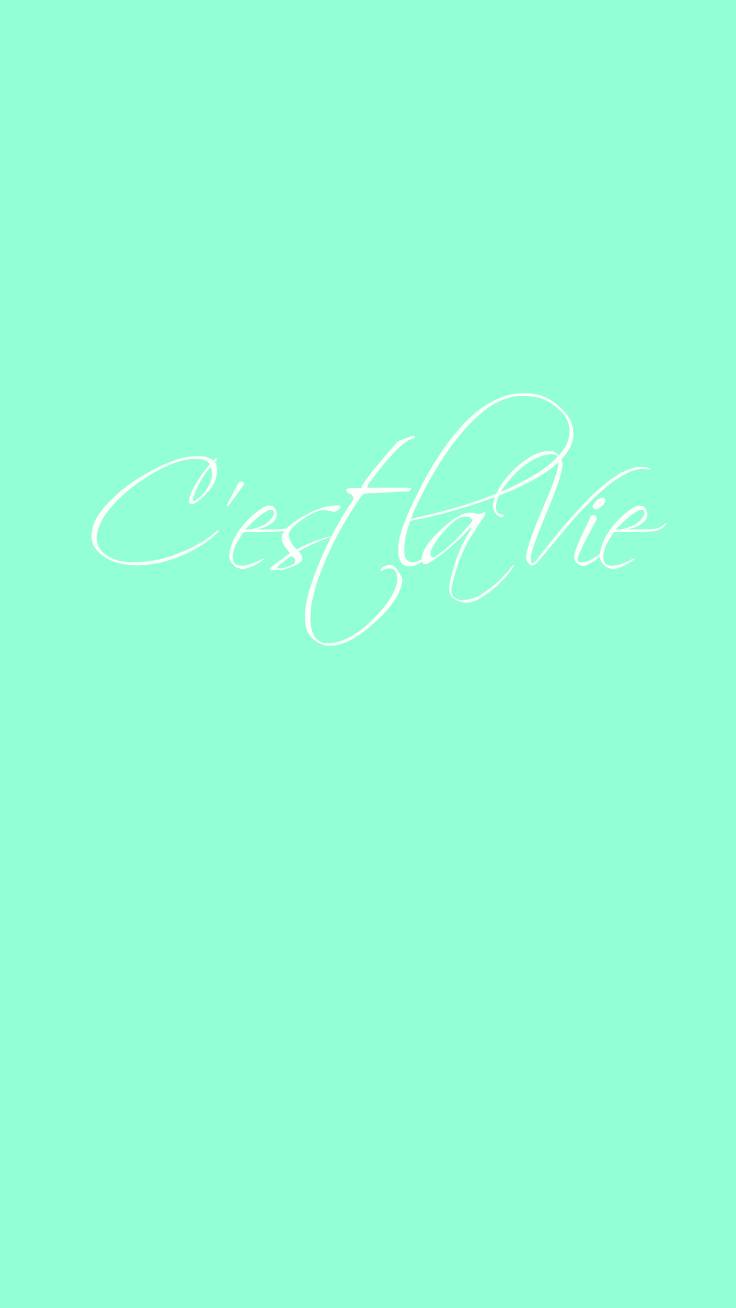 Preppy Original ☆ C'est la Vie iPhone Wallpaper Quote