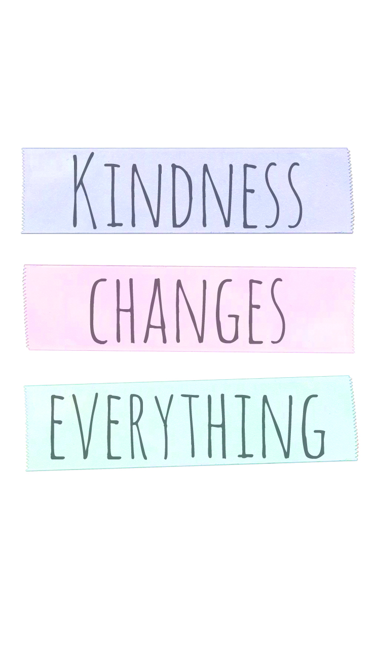 Preppy Original ★ Kindness Changes Everything iPhone Wallpaper Quote