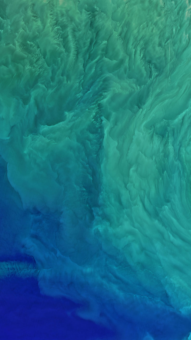 Ocean Satellite View ★ Preppy Original 28 Free HD iPhone 7 & 7 Plus Wallpapers