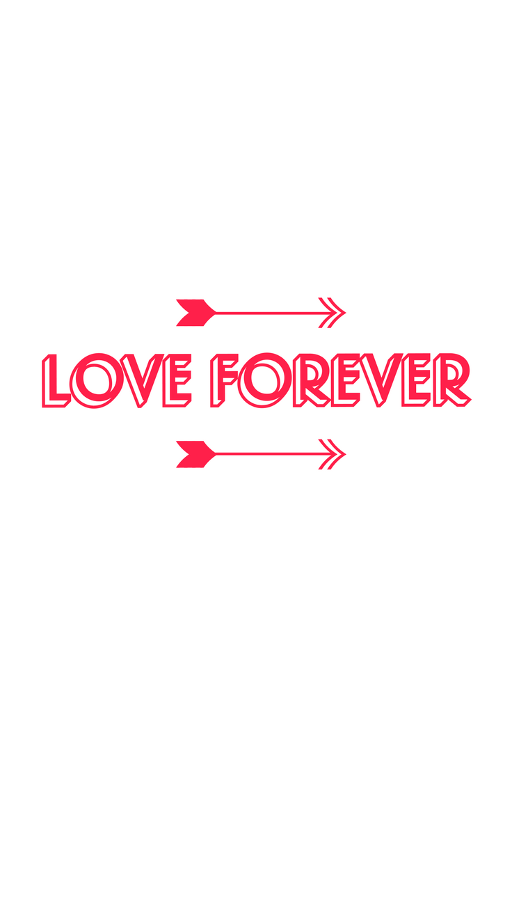 Love Forever Happy Valentine's Day iPhone wallpaper