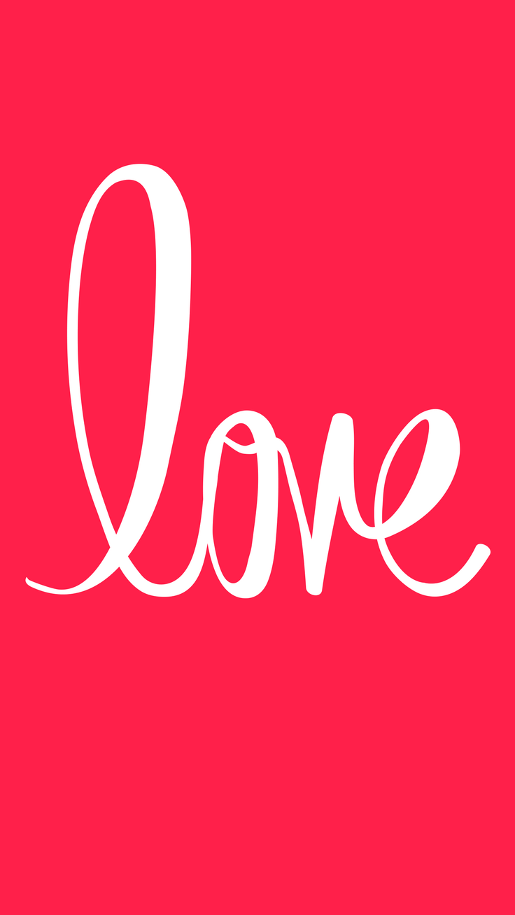 Love - Happy Valentine's Day iPhone wallpaper