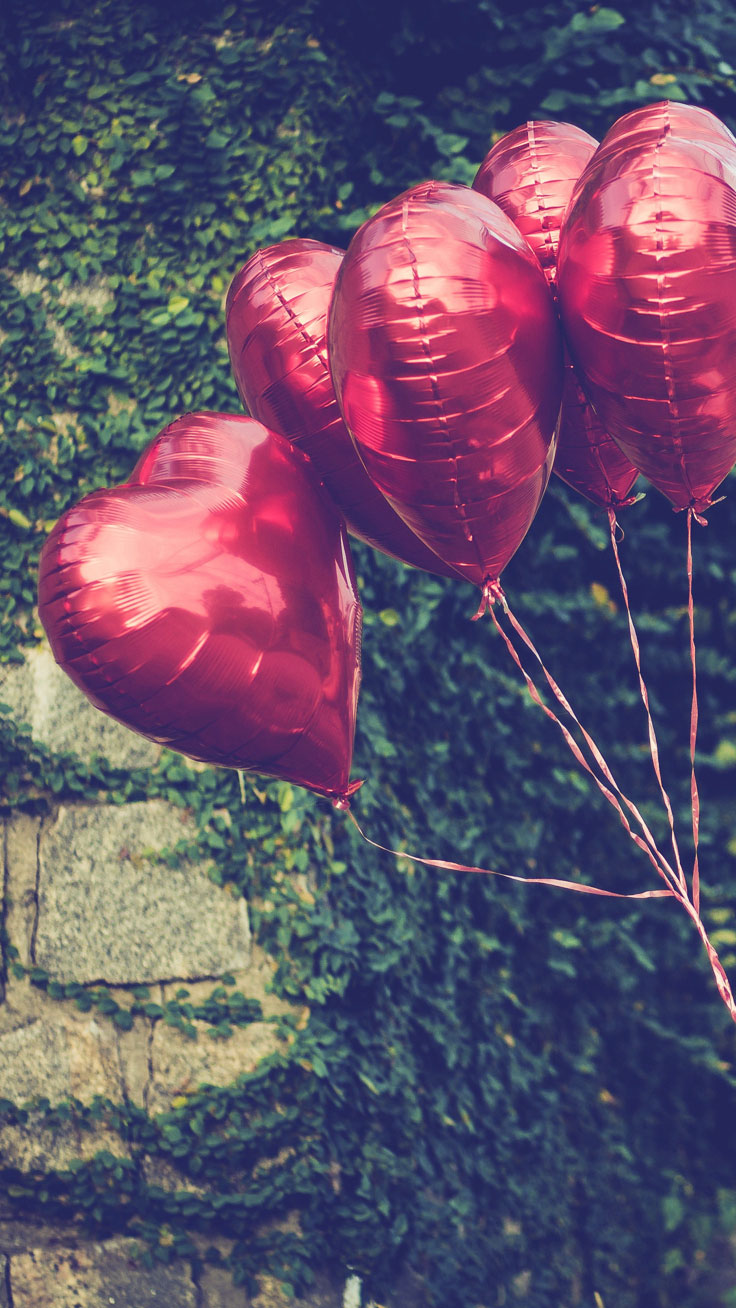 Heart Balloons Download All Happy Valentine S Day Iphone