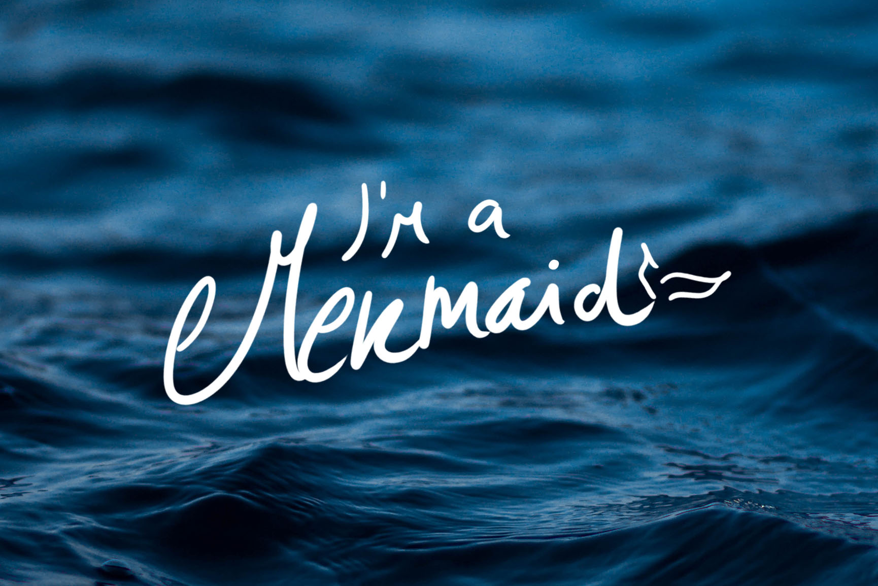 I'm A Mermaid iPhone X Wallpaper